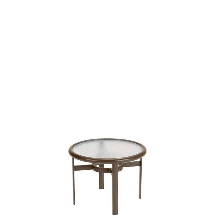 round patio acrylic tea table