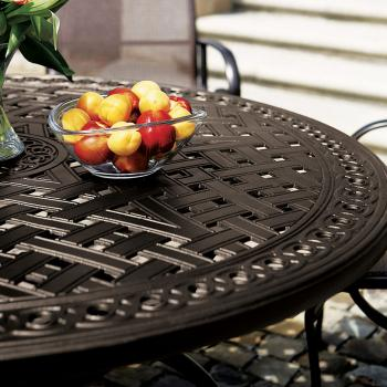 outdoor cast aluminum tables