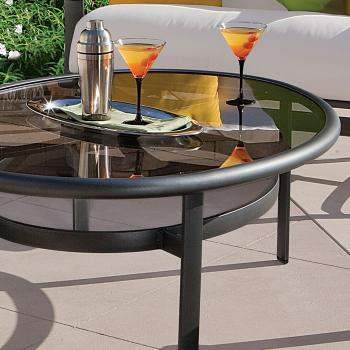 outdoor glass tables