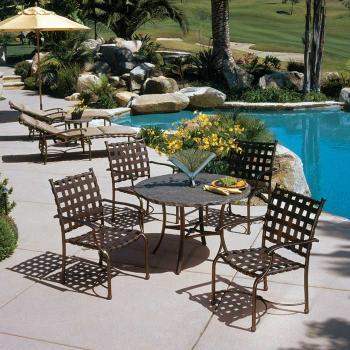 cross strap outdoor furniture