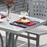 modern patterned outdoor tables
