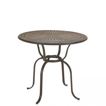 outdoor round bar umbrella table